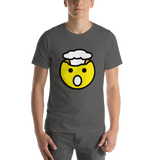 Emoji T-Shirt Store | Exploding Head emoji t-shirt in Dark gray