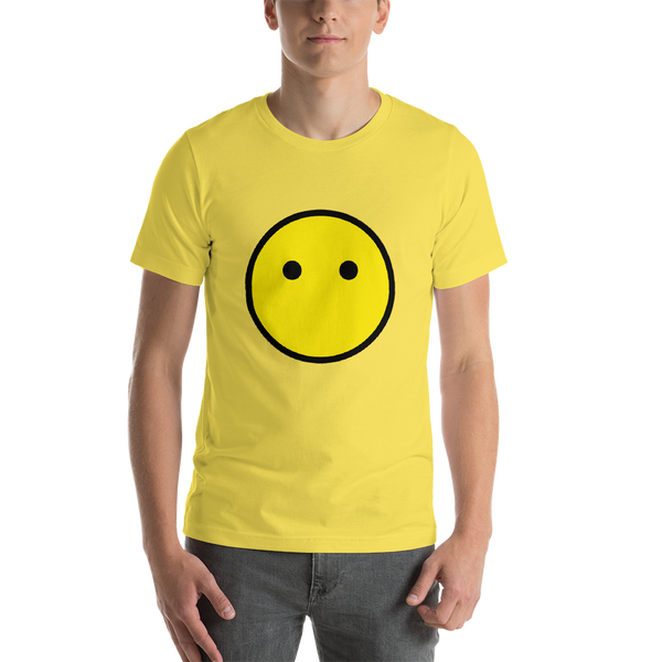 Emoji T-Shirt Store | Face Without Mouth emoji t-shirt in Yellow