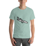 Emoji T-Shirt Store | Airplane Arrival emoji t-shirt in Green