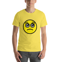 Emoji T-Shirt Store | Pleading Face emoji t-shirt in Yellow