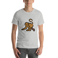 Emoji T-Shirt Store | Monkey emoji t-shirt in Light gray