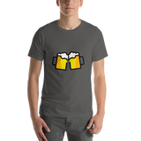 Emoji T-Shirt Store | Clinking Beer Mugs emoji t-shirt in Dark gray