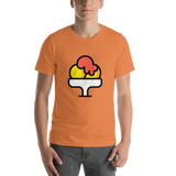 Emoji T-Shirt Store | Shaved Ice emoji t-shirt in Orange
