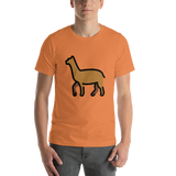 Emoji T-Shirt Store | Llama emoji t-shirt in Orange