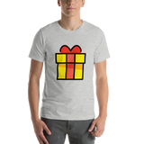 Emoji T-Shirt Store | Wrapped Gift emoji t-shirt in Light gray