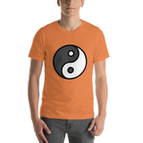 Emoji T-Shirt Store | Yin Yang emoji t-shirt in Orange