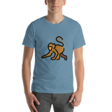 Emoji T-Shirt Store | Monkey emoji t-shirt in Blue