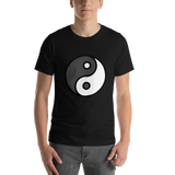Emoji T-Shirt Store | Yin Yang emoji t-shirt in Black