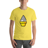 Emoji T-Shirt Store | Soft Ice Cream emoji t-shirt in Yellow