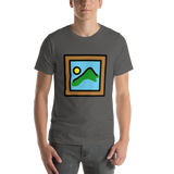 Emoji T-Shirt Store | Framed Picture emoji t-shirt in Dark gray