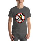 Emoji T-Shirt Store | No Littering emoji t-shirt in Dark gray