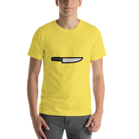 Emoji T-Shirt Store | Kitchen Knife emoji t-shirt in Yellow