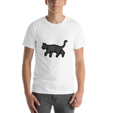 Emoji T-Shirt Store | Black Cat emoji t-shirt in White