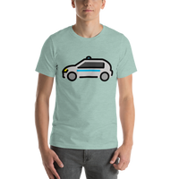 Emoji T-Shirt Store | Police Car emoji t-shirt in Green