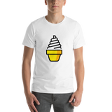 Emoji T-Shirt Store | Soft Ice Cream emoji t-shirt in White