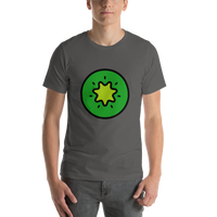 Emoji T-Shirt Store | Kiwi Fruit emoji t-shirt in Dark gray
