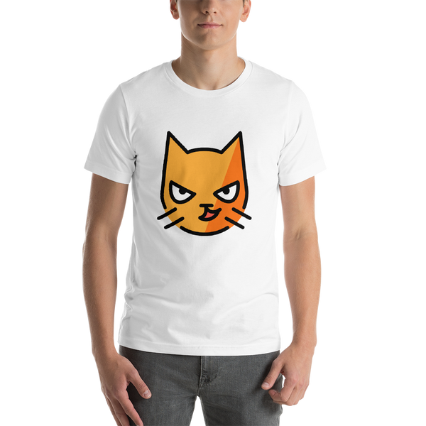 Emoji T-Shirt Store | Cat With Wry Smile emoji t-shirt in White