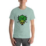 Emoji T-Shirt Store | Dragon Face emoji t-shirt in Green