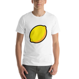 Emoji T-Shirt Store | Lemon emoji t-shirt in White