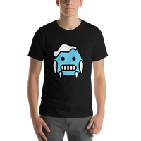 Emoji T-Shirt Store | Cold Face emoji t-shirt in Black