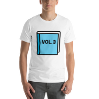 Emoji T-Shirt Store | Blue Book emoji t-shirt in White