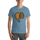 Emoji T-Shirt Store | Thumbs Down, Medium Dark Skin Tone emoji t-shirt in Blue