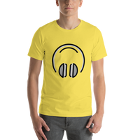 Emoji T-Shirt Store | Headphones emoji t-shirt in Yellow