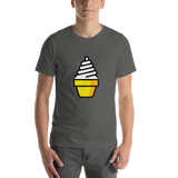 Emoji T-Shirt Store | Soft Ice Cream emoji t-shirt in Dark gray