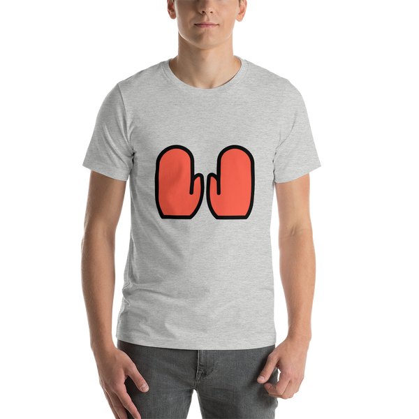 Emoji T-Shirt Store | Gloves emoji t-shirt in Light gray