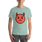 Emoji T-Shirt Store | Angry Face With Horns emoji t-shirt in Green