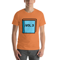 Emoji T-Shirt Store | Blue Book emoji t-shirt in Orange