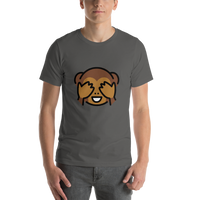 Emoji T-Shirt Store | See-No-Evil Monkey emoji t-shirt in Dark gray