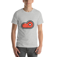 Emoji T-Shirt Store | Cut Of Meat emoji t-shirt in Light gray