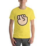 Emoji T-Shirt Store | Raised Fist, Light Skin Tone emoji t-shirt in Yellow