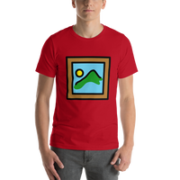 Emoji T-Shirt Store | Framed Picture emoji t-shirt in Red