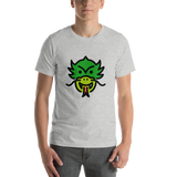 Emoji T-Shirt Store | Dragon Face emoji t-shirt in Light gray