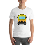 Emoji T-Shirt Store | Oncoming Bus emoji t-shirt in White