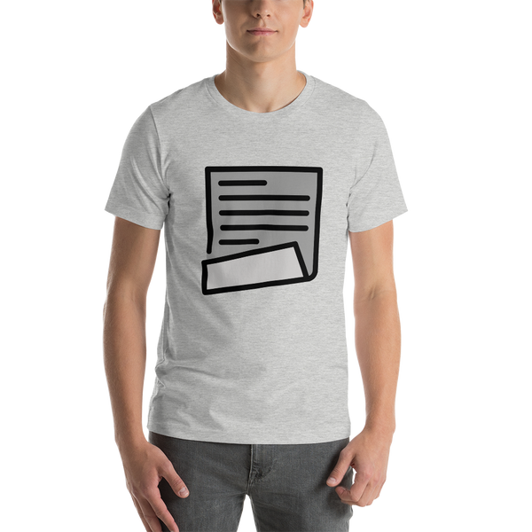 Emoji T-Shirt Store | Page With Curl emoji t-shirt in Light gray