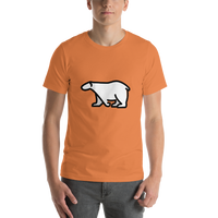 Emoji T-Shirt Store | Polar Bear emoji t-shirt in Orange