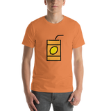 Emoji T-Shirt Store | Beverage Box emoji t-shirt in Orange