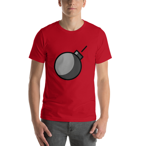 Emoji T-Shirt Store | Bomb emoji t-shirt in Red