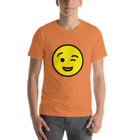 Emoji T-Shirt Store | Winking Face emoji t-shirt in Orange