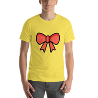 Emoji T-Shirt Store | Ribbon emoji t-shirt in Yellow