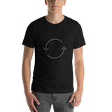 Emoji T-Shirt Store | Counterclockwise Arrows Button emoji t-shirt in Black