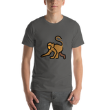 Emoji T-Shirt Store | Monkey emoji t-shirt in Dark gray