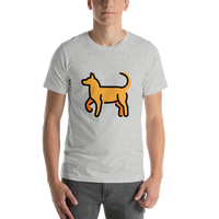 Emoji T-Shirt Store | Dog emoji t-shirt in Light gray