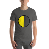 Emoji T-Shirt Store | Last Quarter Moon emoji t-shirt in Dark gray