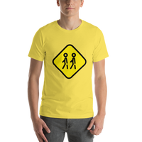 Emoji T-Shirt Store | Children Crossing emoji t-shirt in Yellow