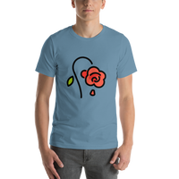 Emoji T-Shirt Store | Wilted Flower emoji t-shirt in Blue