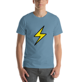 Emoji T-Shirt Store | High Voltage emoji t-shirt in Blue